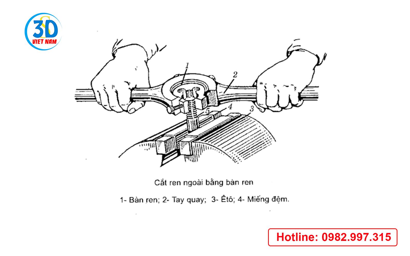 cắt ren bằng bàn ren