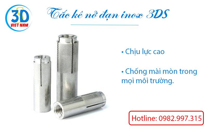 tắ kê nở đạn inox 3DS